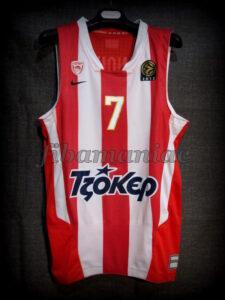 2013 Euroleague Season & Final Four MVP Olympiacos Piraeus Vassilis Spanoulis Jersey - Front