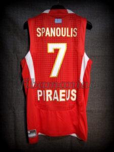 2013 Euroleague Season & Final Four MVP Olympiacos Piraeus Vassilis Spanoulis Jersey - Back