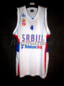 2010 World Cup Serbia Milos Teodosic Jersey - Front