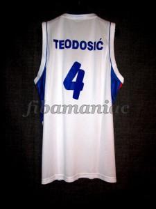 2010 World Cup Serbia Milos Teodosic Jersey - Back