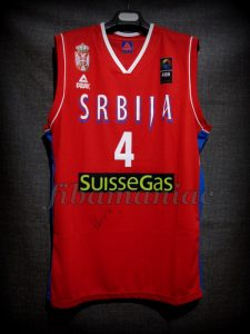 2014 World Cup Serbia Milos Teodosic Jersey Front - Signed