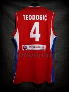 2014 World Cup Serbia Milos Teodosic Jersey Back - Signed