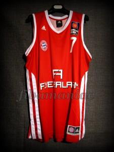 2012/2013 BBL Semifinals Bayern Munich Brandon Thomas Jersey - Front