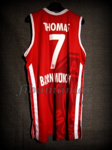 2012/2013 BBL Semifinals Bayern Munich Brandon Thomas Jersey - Back