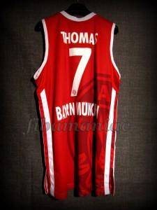 2012/2013 BBL Semifinals Bayern Munich Brandon Thomas Jersey - Back
