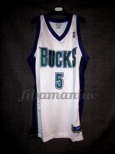 2001 Eastern Conference Finals Milwaukee Bucks Tim Thomas Jersey - Front