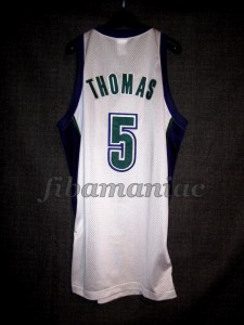 2001 Eastern Conference Finals Milwaukee Bucks Tim Thomas Jersey - Back