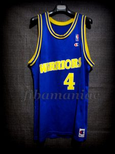 1994 NBA Rookie of the Year Golden State Warriors Chris Webber Jersey - Front