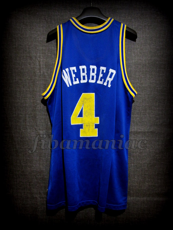 62dfade7114 1994 NBA Rookie of the Year Golden State Warriors Chris Webber Jersey - Back