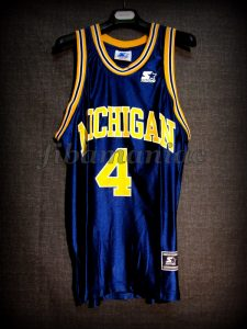 1992 NCAA Final Four Michigan Wolverines Chris Webber Jersey - Front