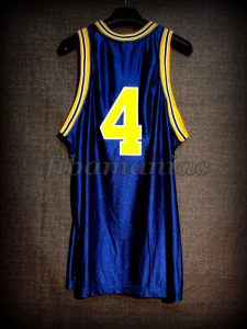 1992 NCAA Final Four Michigan Wolverines Chris Webber Jersey - Back