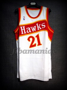 1986 NBA Scoring Champion Atlanta Hawks Dominique Wilkins Jersey - Front