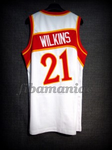 1986 NBA Scoring Champion Atlanta Hawks Dominique Wilkins Jersey - Back