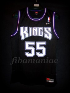 "1999 NBA All-Rookie First Team Sacramento Kings Jason ""White Chocolate"" Williams Jersey - Front"