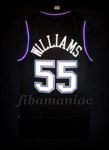 "1999 NBA All-Rookie First Team Sacramento Kings Jason ""White Chocolate"" Williams Jersey - Back"