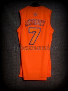 2012 NBA Christmas Day New York Knicks Carmelo Anthony Jersey - Back