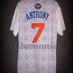 """2014 """"Noche Latina"""" New York Knicks Carmelo Anthony Jersey - Back"""