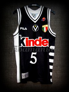 1999 Euroleague Final Four & Italian Cup Champions Virtus Bologna Predrag Danilovic Jersey - Front