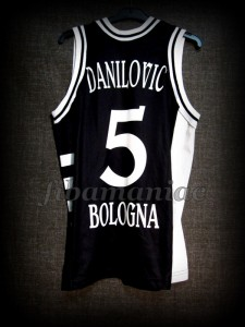 1999 Euroleague Final Four & Italian Cup Champions Virtus Bologna Predrag Danilovic Jersey - Back