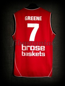 2008/2009 BBL Semifinals Brose Baskets Bamberg Demond Greene Jersey - Back