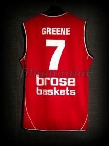2008/2009 BBL Semifinals Brose Baskets Bamberg Demond Greene Jersey - Back