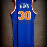 "1984 ""The Texas Massacre"" & Christmas Day Scoring Record New York Knicks Bernard King Jersey - Back"