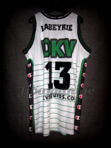 2003 Spanish King's Cup Joventut Badalona Mehdi Labeyrie Jersey Back - MW