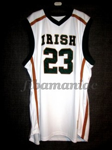2002 Mr. Basketball USA Fighting Irish (St.Vincent St.Mary HS) Lebron James Jersey - Front