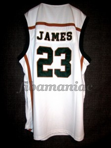 2002 Mr. Basketball USA Fighting Irish (St.Vincent St.Mary HS) Lebron James Jersey - Back