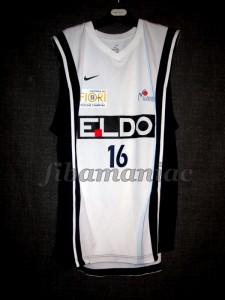 2006/2007 Euroleague Basket Napoli Claudio Maino Jersey Front - MW