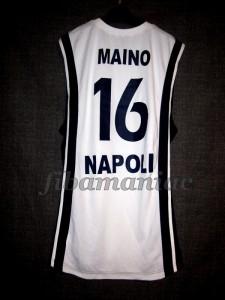 2006/2007 Euroleague Basket Napoli Claudio Maino Jersey Back - MW