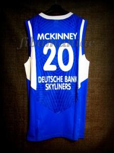 2010/2011 BBL Semifinals Frankfurt Skyliners Jimmy McKinney Jersey - Back