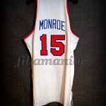 "1973 NBA Finals Champions New York Knicks Earl ""The Pearl"" Monroe Jersey - Back"