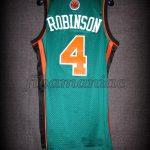 """2009 St.Patrick's Day New York Knicks Nate Robinson """"Kryptonate"""" Jersey - Back"""