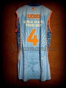 2011/2012 BBL2 Semifinals Düsseldorf Giants Aubrey Reese Jersey Back - MW & Signed