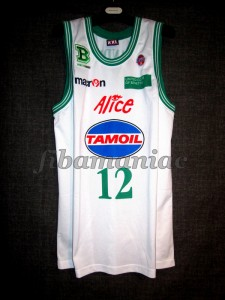 2008/2009 LEGA Semifinals Benetton Treviso Daniele Sandri Jersey Front – MW