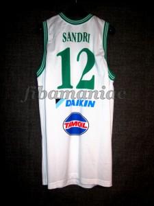 2008/2009 LEGA Semifinals Benetton Treviso Daniele Sandri Jersey Back – MW