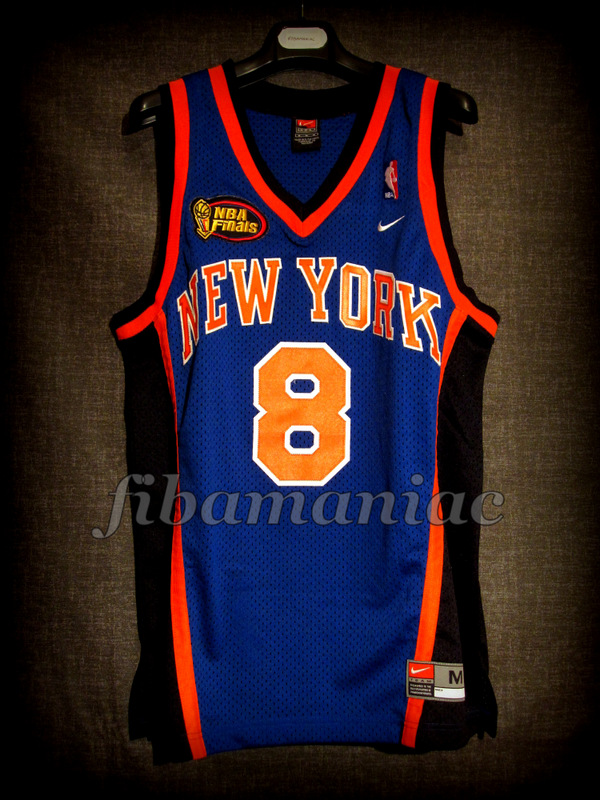 new styles 87334 0284f 1999 NBA Finals New York Knicks Latrell Sprewell Jersey ...