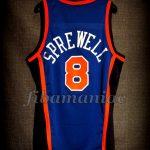 1999 NBA Finals New York Knicks Latrell Sprewell Jersey - Back