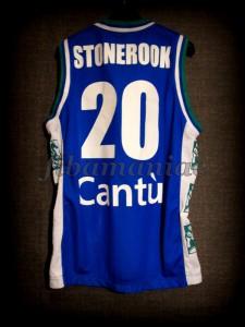 2001/2002 LEGA Semifinals Pallacanestro Cantù Shaun Stonerook Jersey - Back