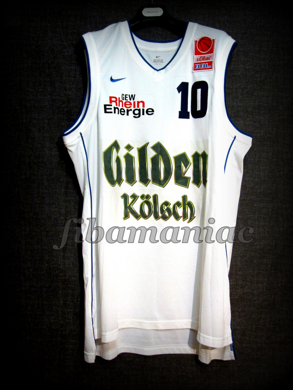 5532366df36d 2003 German Cup Runner-Ups Rhein Energy Cologne Drazan Tomic Jersey Front -  MW