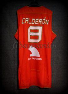 2009 Eurobasket Champions Spain José Manuel Calderón Jersey Back - Signed