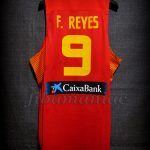2014 World Cup Spain Felipe Reyes Jersey Back - Issued & signed