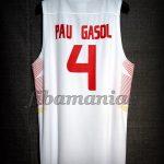 2015 Eurobasket MVP Spain Pau Gasol Jersey - Back