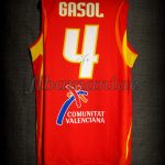 2006 World Cup MVP Spain Pau Gasol Jersey Back – Signed