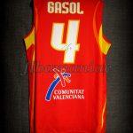 2006 World Cup MVP Spain Pau Gasol Jersey Back – Signed