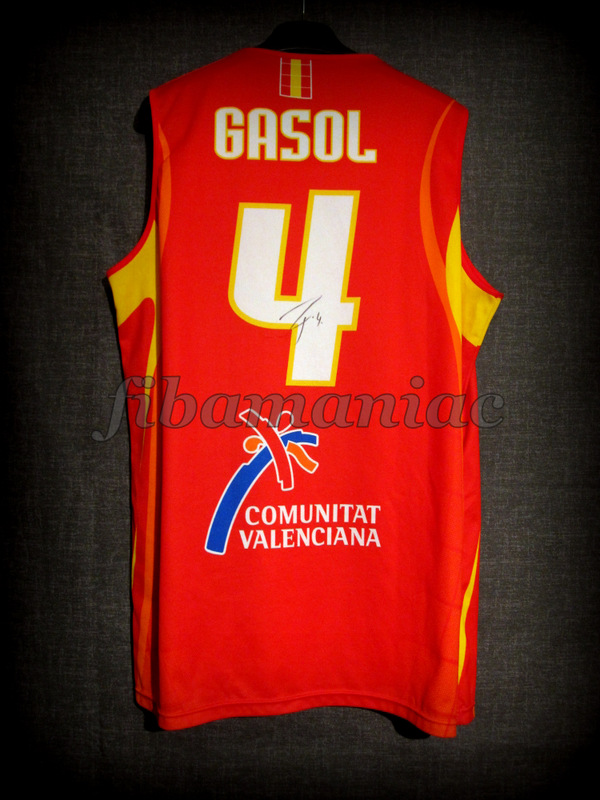 ... germany 2006 world cup mvp spain pau gasol jersey back signed 1f4bf  c5672 f79ec443d