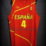 London 2012 Olympic Games Finalists Spain Pau Gasol Jersey - Front