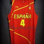 London 2012 Olympic Games Finalists Spain Pau Gasol Jersey - Front