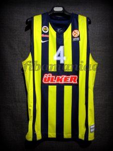2013/2014 Euroleague Fenerbahce Ulker Istanbul Bo McCalebb Jersey - Front